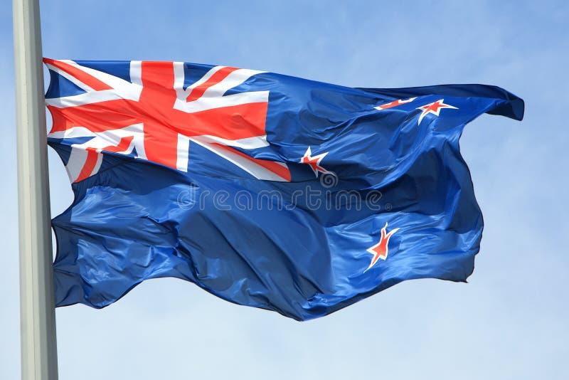 Nowa Zelandia flaga zdjęcie royalty free