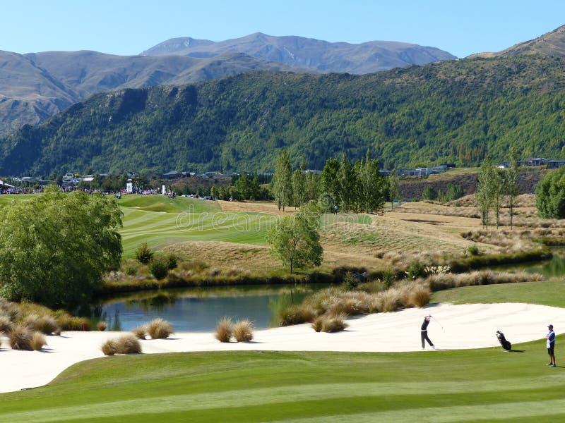 Nowa Zelandia golf otwarty Arrowtown fotografia royalty free