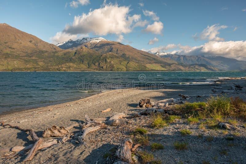NOWA ZELANDIA jezioro WANAKA obraz royalty free