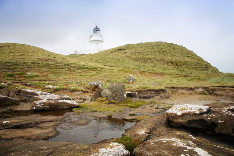 Nowa Zelandia latarnia morska zdjęcia royalty free