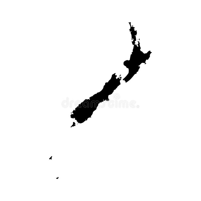 Nowa Zelandia mapa ilustracja wektor