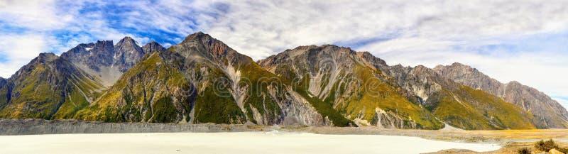 Nowa Zelandia, Mt Kucbarski park narodowy, UNESCO, panorama zdjęcie royalty free