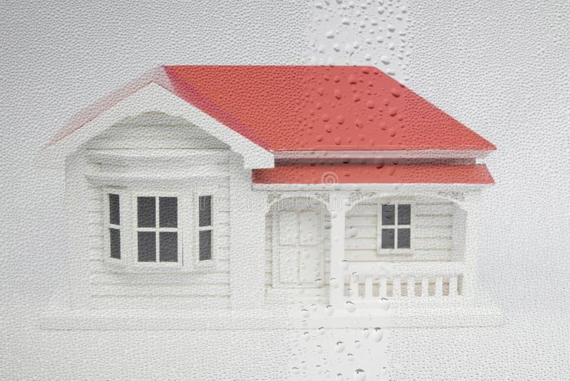 Nowa Zelandia NZ willi domu model z nadokienną kondensacją i da obrazy stock