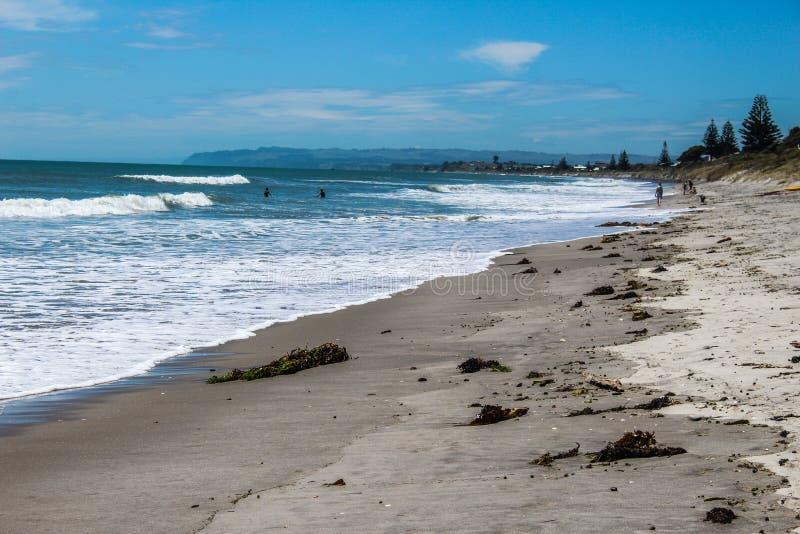 Nowa Zelandia plaża w lecie zdjęcie royalty free