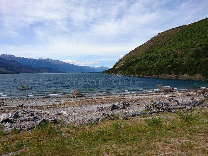 Nowa Zelandia wody jeziorna Południowa wyspa zdjęcie stock