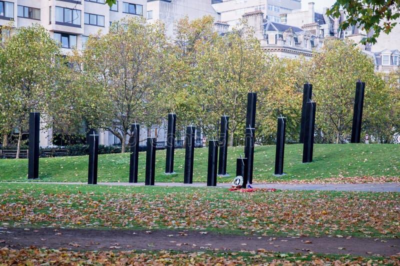 Nowa Zelandia Wojennego pomnika Hyde parka kąt w Londyn zdjęcia stock