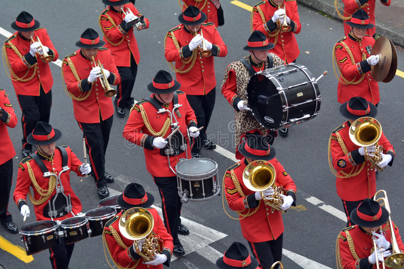 Nowa Zelandia wojska zespołu parada obrazy stock