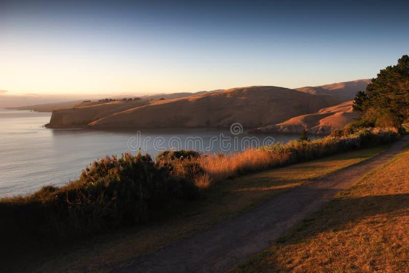 Nowa Zelandia wschód słońca fotografia stock