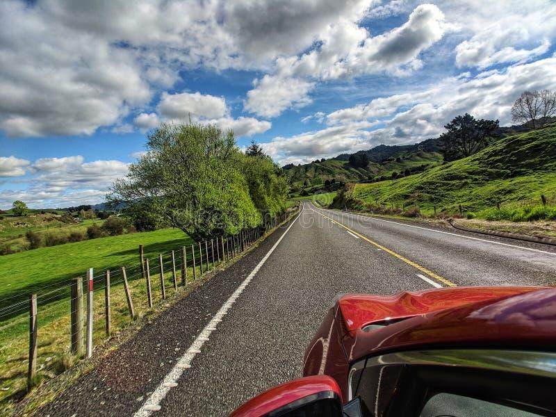 Nowa Zelandia wycieczka samochodowa fotografia royalty free