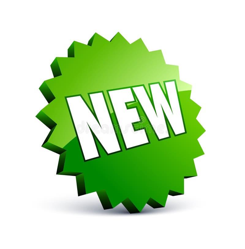 nowa zielona etykietka ilustracji