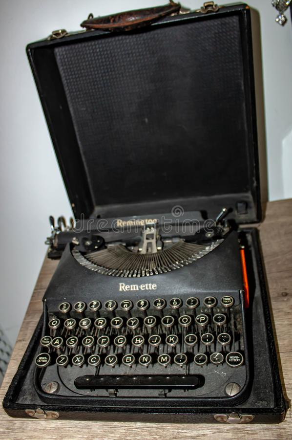 Nowadays almost completely replaced by personal computers containing one or more word processing programs installed, the typewrite. R, born in the late royalty free stock photos