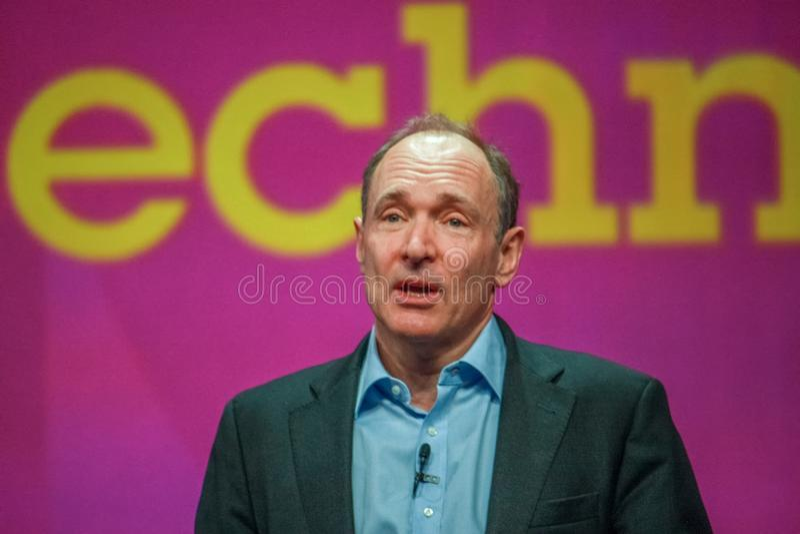 Nowator i założyciel interneta Sir Tim Berners-Lee zdjęcia stock