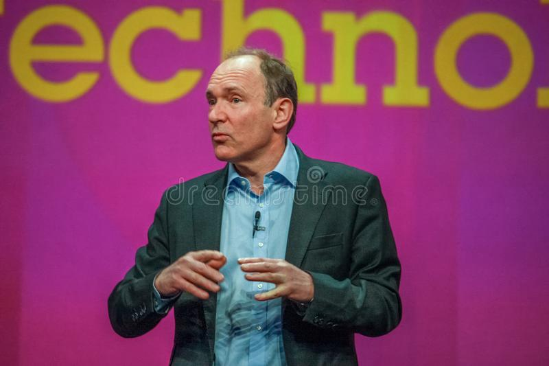 Nowator i założyciel interneta Sir Tim Berners-Lee obrazy stock