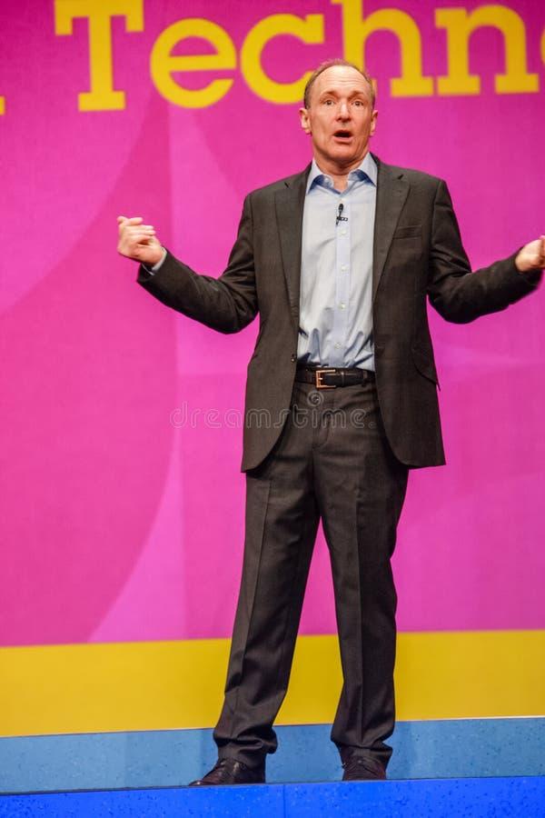 Nowator i założyciel interneta Sir Tim Berners-Lee zdjęcie stock