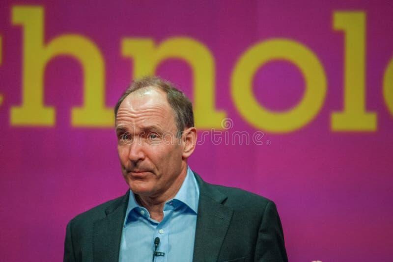 Nowator i założyciel interneta Sir Tim Berners-Lee obraz stock
