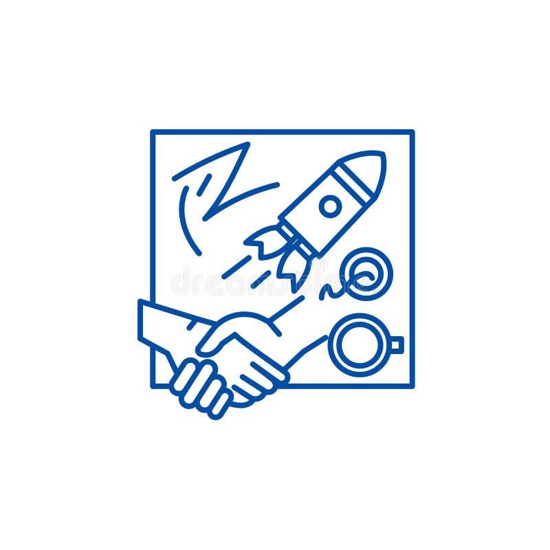 Nowatorskich rozwiązań ikony kreskowy pojęcie Nowatorskich rozwiązań płaski wektorowy symbol, znak, kontur ilustracja royalty ilustracja