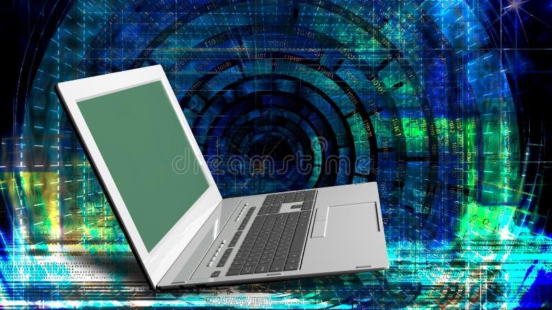 nowatorskie komputerowe Internetowe technologie dla biznesu royalty ilustracja