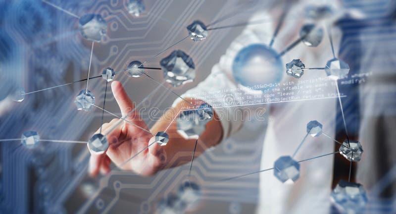Nowatorskie technologie w nauce i medycynie Technologia łączyć Pojęcie ochrona obrazy royalty free