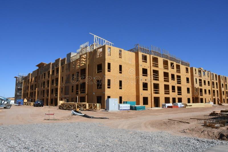 Nowe Budownictwo Mieszkaniowe budowa Dla mieszkań zdjęcia royalty free