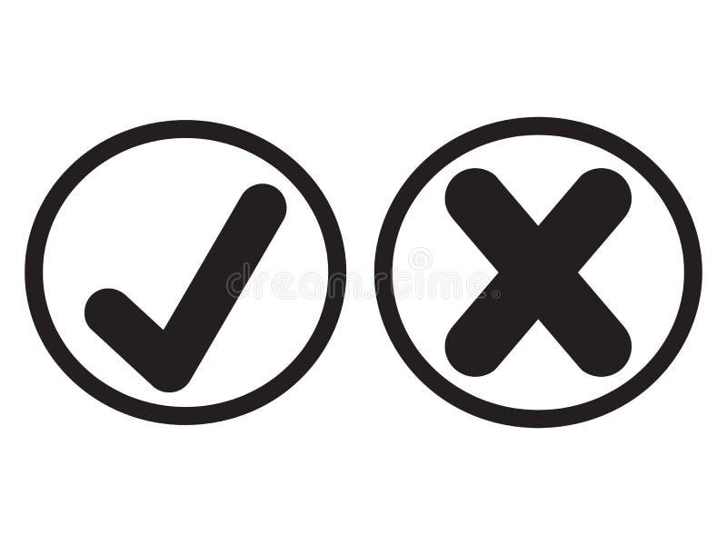 Nowe czek oceny ustawiać ilustracja wektor