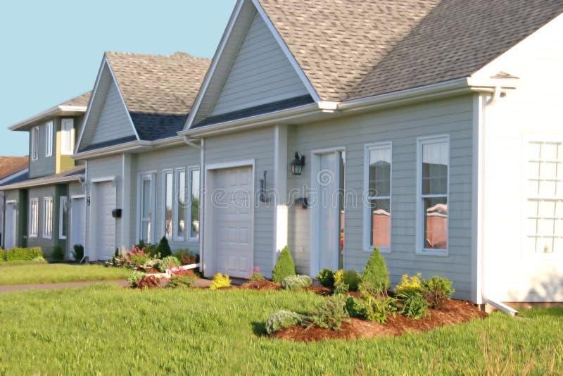 nowe domy komunalne zdjęcia stock
