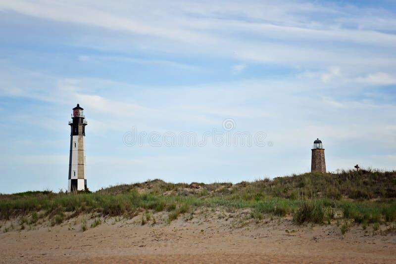 Nowe i stare latarnie morskie przylądek Henry obrazy stock