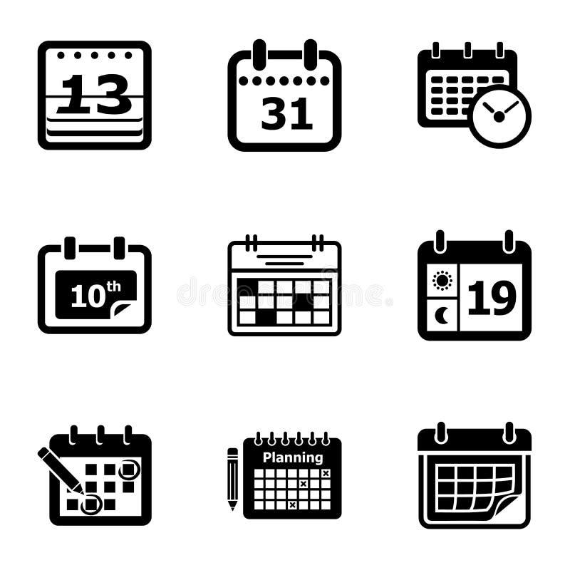 Nowe kalendarzowe ikony ustawiać, prosty styl royalty ilustracja