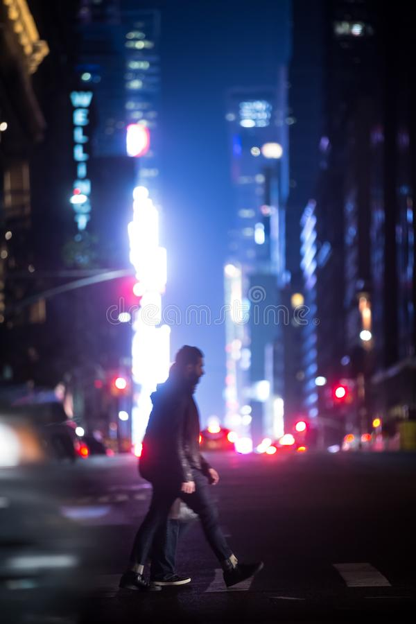 nowe miasto nocy York street obrazy royalty free