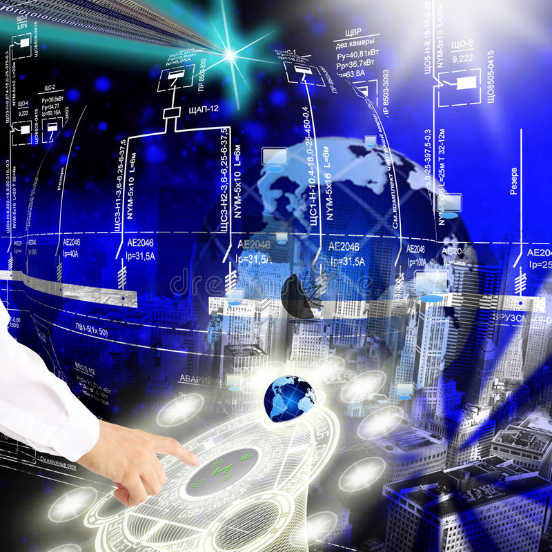 Nowe nowatorskie technologie obrazy royalty free