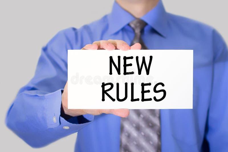 Nowe reguły zdjęcie royalty free