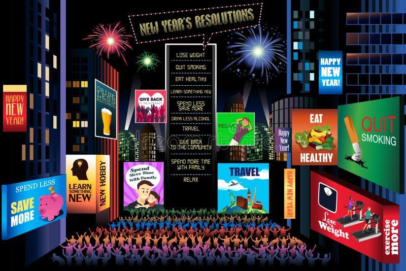 nowe rezolucję lat ilustracji