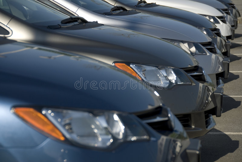 nowe samochody obraz stock