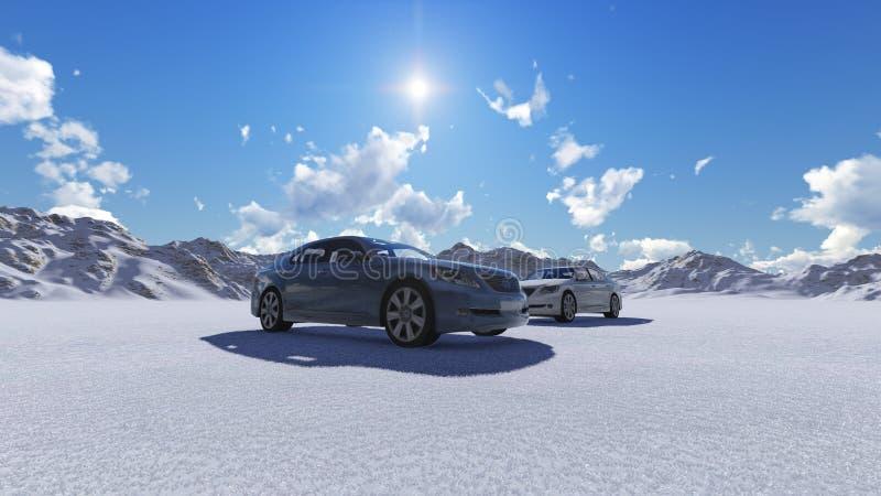 nowe samochody royalty ilustracja