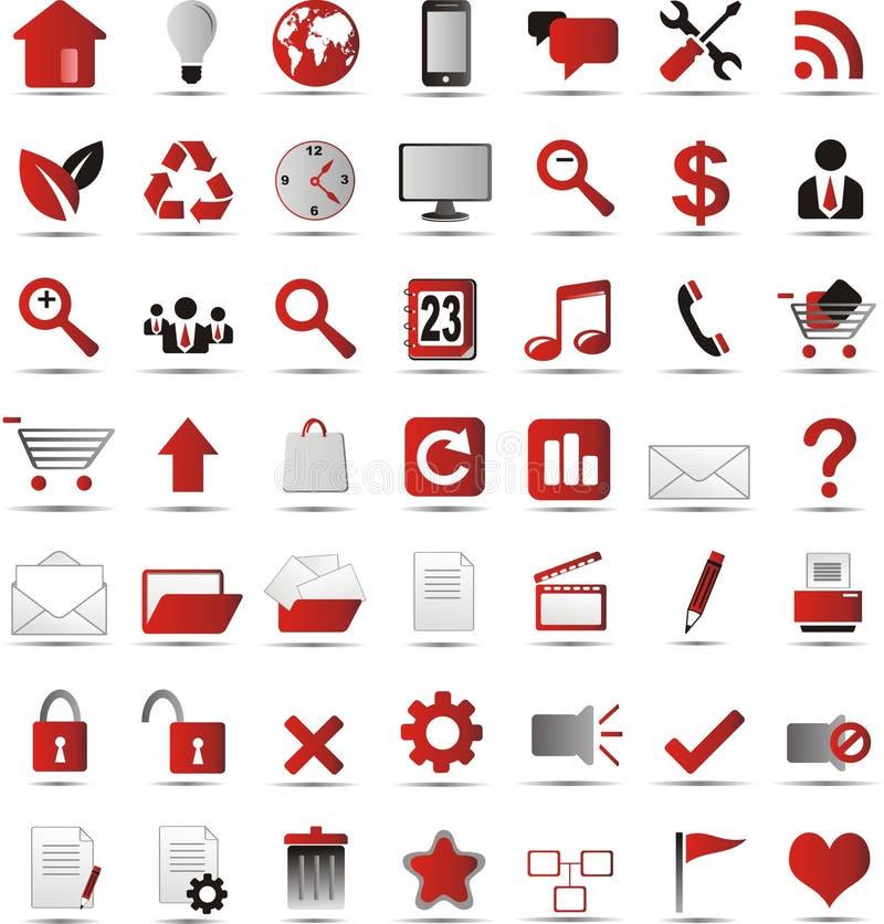 Nowe sieci ikony ilustracji