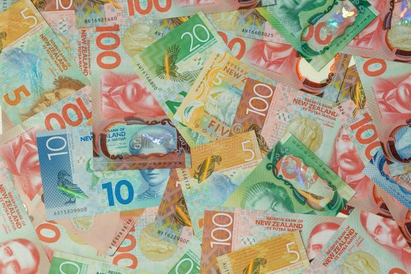 nowe Zelandii Pieniądze, wyznanie/dolarowy, różnorodny/ fotografia royalty free