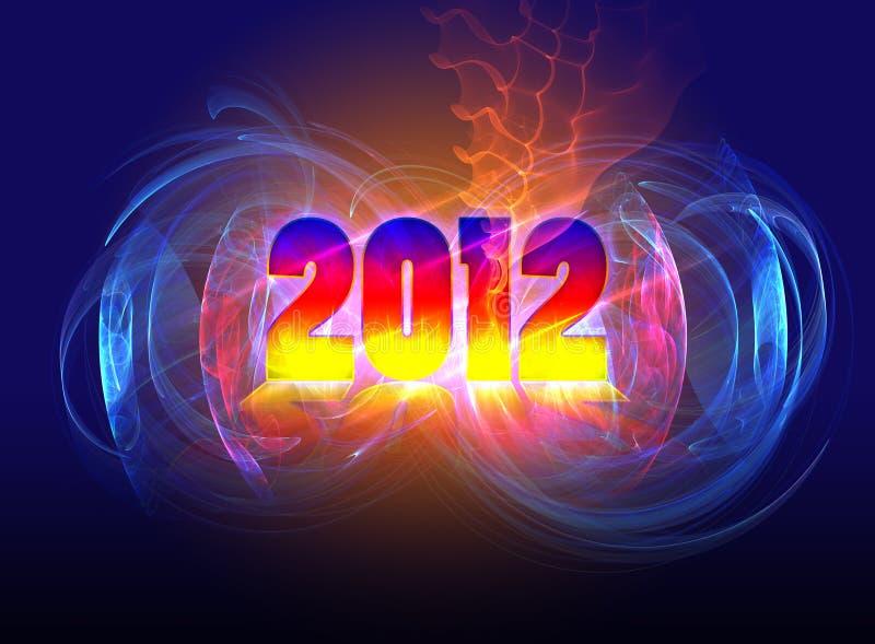 nowego 2012 komesa ilustracja wektor