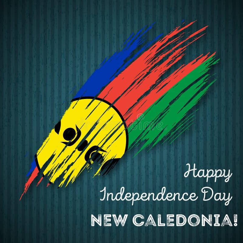 Nowego Caledonia dnia niepodległości Patriotyczny projekt royalty ilustracja