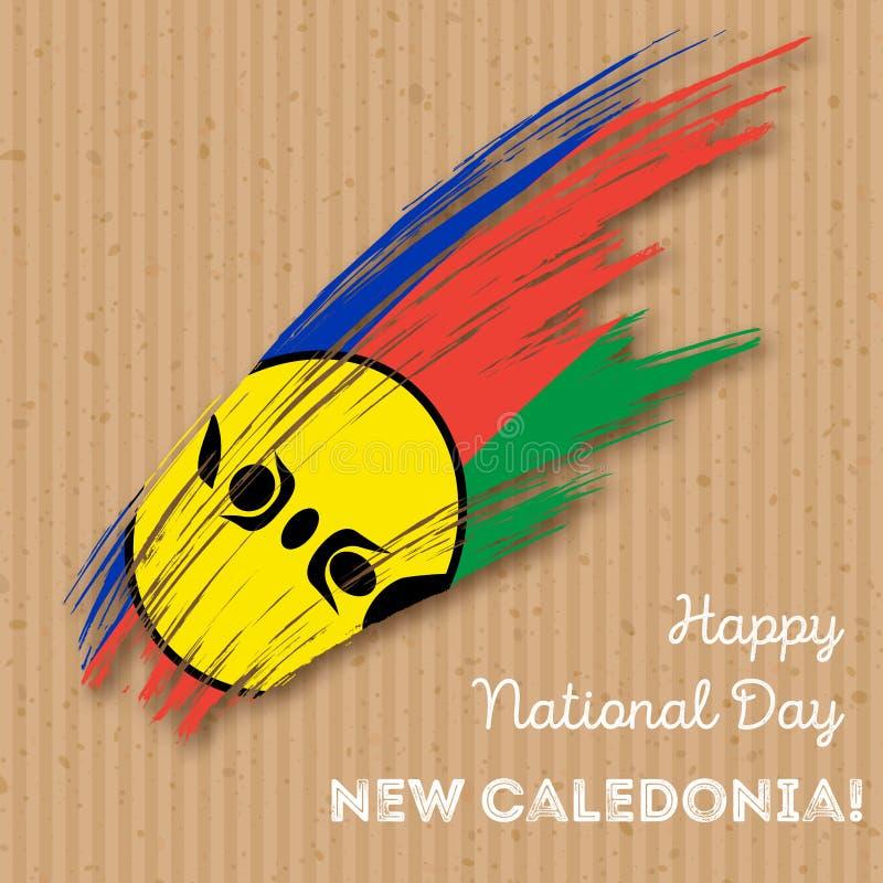 Nowego Caledonia dnia niepodległości Patriotyczny projekt ilustracja wektor