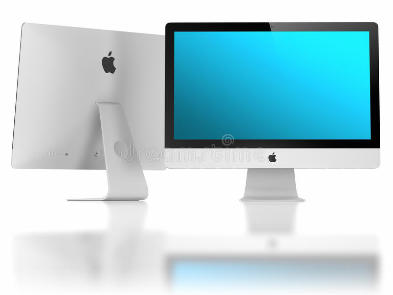 Nowego iMac Super Schudnięcia 5mm pokaz royalty ilustracja