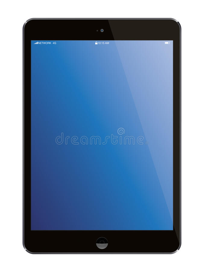 Nowego Jabłczanego iPad przenośnego komputeru Lotnicza pastylka ilustracji
