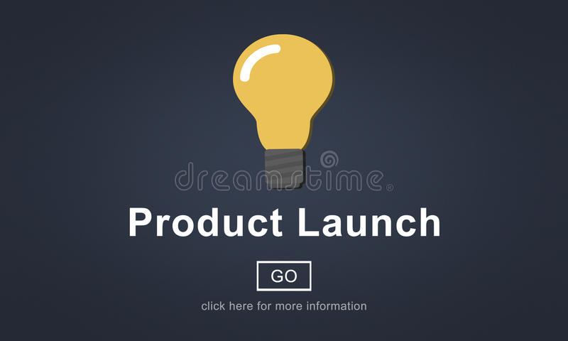 Nowego Produktu wodowanie Wprowadzać na rynek Handlowego innowaci pojęcie ilustracji