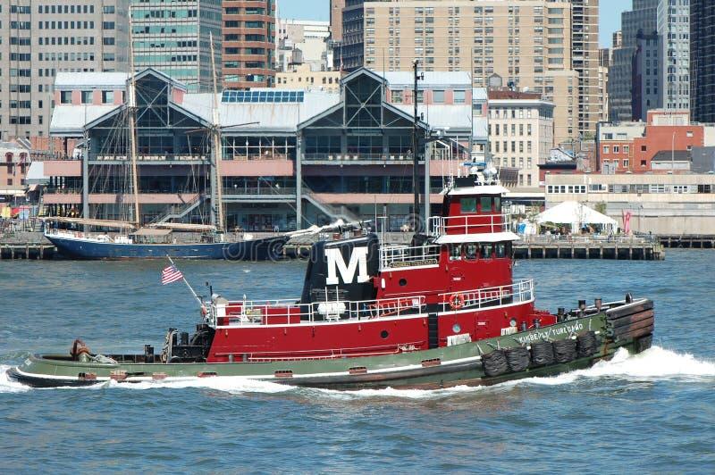 nowego przepustek czerwonego port morski południowy uliczny tugboat York zdjęcie royalty free