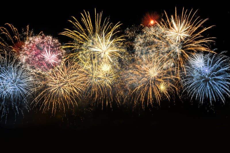 Nowego Roku świętowania kolorowi fajerwerki obrazy stock