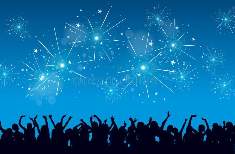 Nowego Roku Świętowanie ilustracji