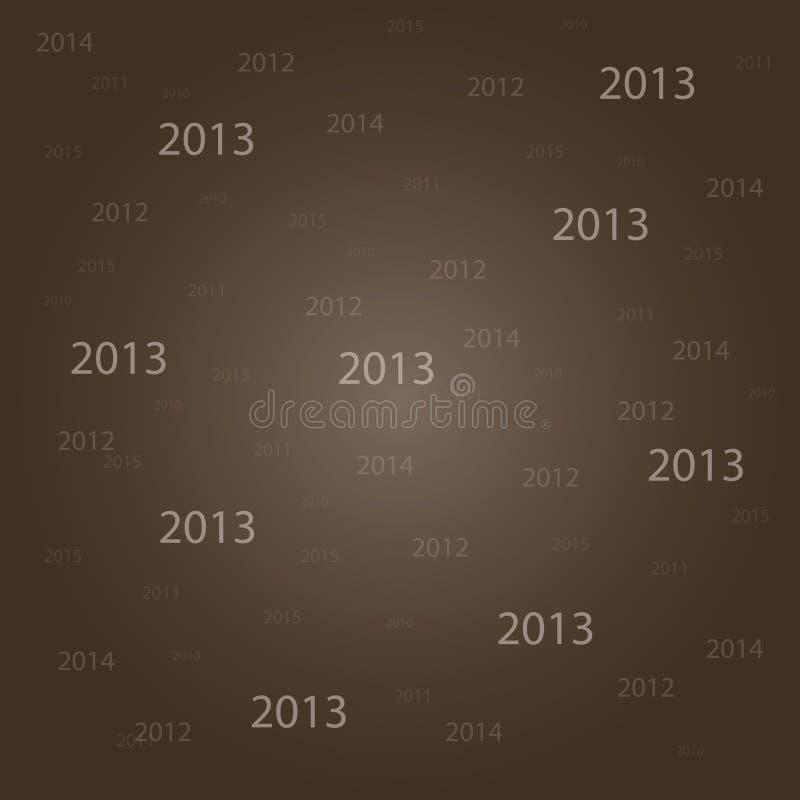 Nowego roku 2013 tło ilustracja wektor