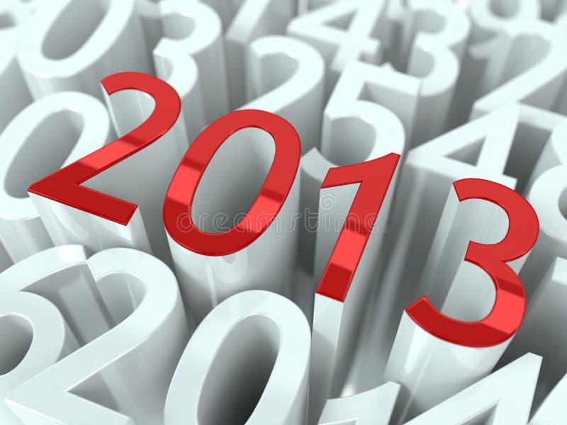 Nowego roku 2013 tło. ilustracji
