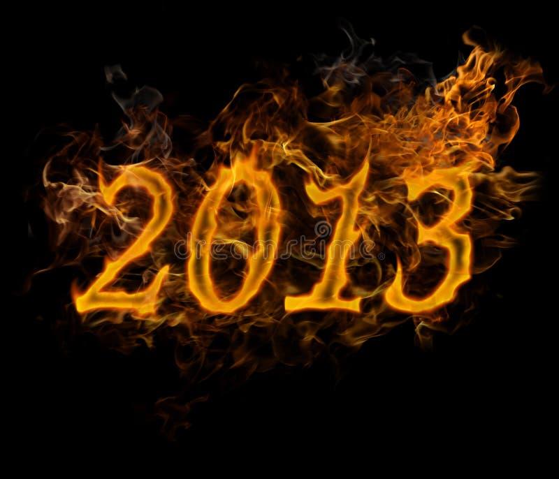 Nowego Roku 2013 tekst robić ogień royalty ilustracja