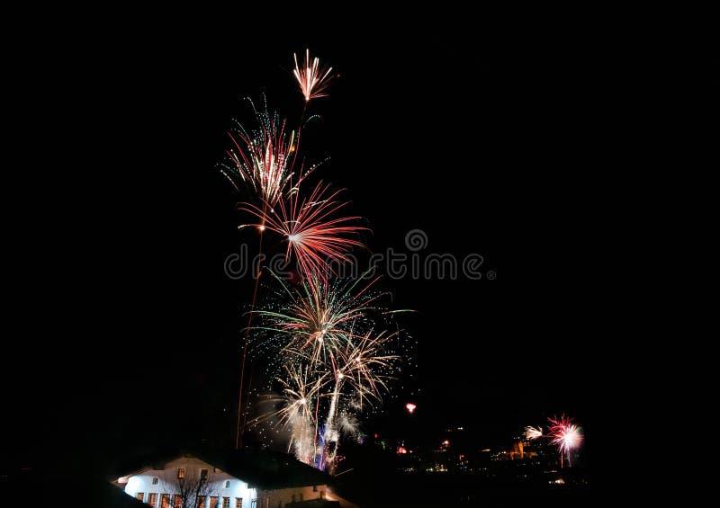 Nowego Roku dnia fajerwerki obrazy stock