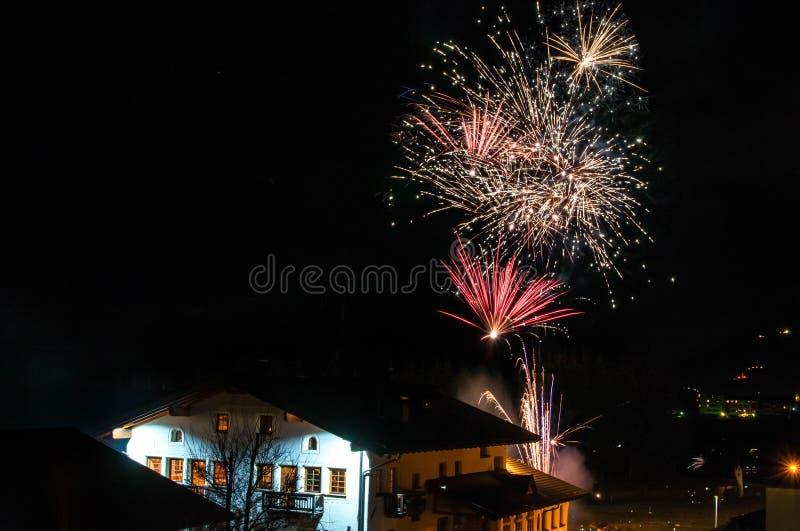 Nowego Roku dnia fajerwerki obraz royalty free