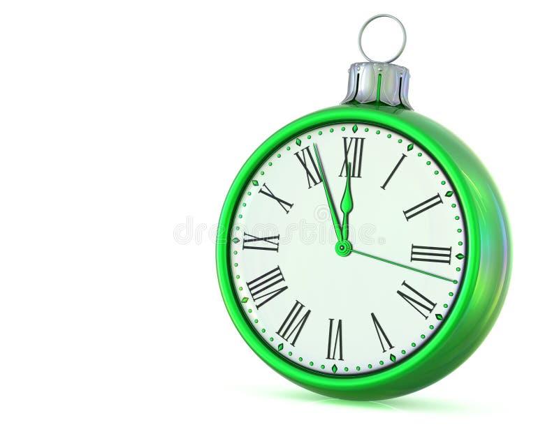 Nowego Roku dnia północy 12 godziny czasu zegarowy ostatni odliczanie obrazy royalty free